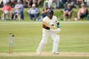 Samit Patel gets forward, Glamorgan v Lancashire, County Championship, Division Two, Colwyn Bay, August 20, 2019