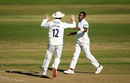 Fidel Edwards celebrates a wicket, Hampshire v Somerset, County Championship, Division One, Ageas Bowl, September 17, 2019