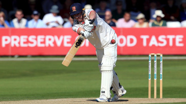 Dan Lawrence works one to the leg side