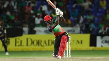 Carlos Brathwaite launches one over midwicket