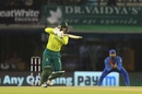 Quinton de Kock punches through the off side, South Africa v India, 2nd T20I, Mohali, September 18, 2019