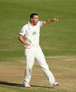 Kyle Abbott celebrates the wicket of Craig Overton, Hampshire v Somerset, County Championship, Division One, Ageas Bowl, September 18, 2019