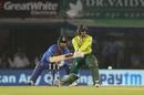 Quinton de Kock shapes to reverse-sweep, South Africa v India, 2nd T20I, Mohali, September 18, 2019