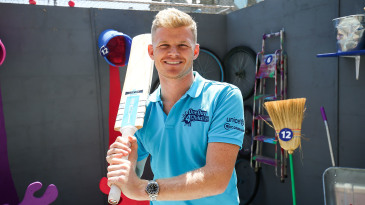 Sam Billings in the Birmingham fanzone during the ICC Cricket World Cup