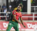 Imran Tahir is pumped up after taking a wicket, Jamaica Tallawahs v Guyana Amazon Warriors, CPL 2019, Kingston, September 18, 2019
