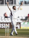 Brett Hutton celebrates a breakthrough, Northamptonshire v Durham, County Championship Division Two, Wantage Road, September 19, 2019