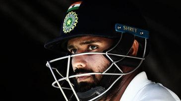 Hanuma Vihari waits for his turn to bat