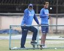 B Arun and Rahul Chahar at a training session, Bengaluru, September 20, 2019
