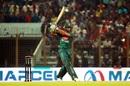 Shakib Al Hasan hits one down the ground, Bangladesh v Afghanistan, 6th match, T20I tri-series, Chattogram, September 21, 2019
