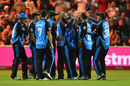 Moeen Ali celebrates with his team-mates, Worcestershire v Essex, Vitality Blast final, Edgbaston, September 21, 2019