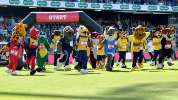 Club mascots race on Finals Day of the Vitality T20 Blast at Edgbaston