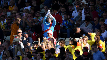 A fan dressed as the Queen during the Vitality T20 Blast Semi Final match between Notts Outlaws and Worcestershire Rapids