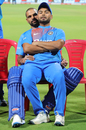 The left-handers' corner: Shikhar Dhawan plays sofa to Rishabh Pant, India v South Africa, 3rd T20I, Bengaluru, September 22, 2019