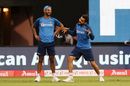 Shikhar Dhawan and Virat Kohli share a light moment, India v South Africa, 3rd T20I, Bengaluru, September 22, 2019