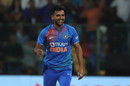 Deepak Chahar sports a smile, India v South Africa, 3rd T20I, Bengaluru, September 22, 2019