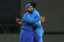 Virat Kohli embraces Krunal Pandya, India v South Africa, 3rd T20I, Bengaluru, September 22, 2019