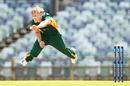 Nathan Ellis flies through the crease, Tasmania v Victoria, Marsh One-Day Cup, Perth, September 23, 2019