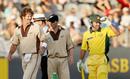 Chris Cairns, Jeff Wilson and Ricky Ponting have a chat, New Zealand v Australia, Twenty20, Eden Park, February 17, 2005