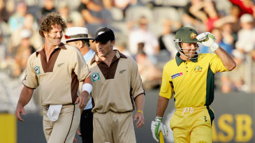 Ricky Ponting made 98 not out in the first men's T20I, in 2005