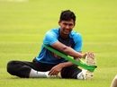 Mustafizur Rahman goes through his stretching routine, Dhaka, September 23, 2019