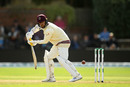 Jack Leach got off the mark with a pair of boundaries, Somerset v Essex, County Championship, Division One, Taunton, September 24, 2019