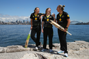 Alyssa Healy, Rachael Haynes and Ash Gardner at the launch of Australia's home season, Sydney, September 25, 2019