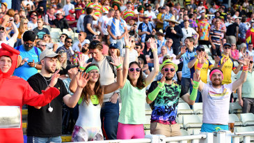 The crowds enjoy the action on T20 Finals Day