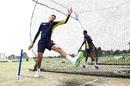 Thando Ntini bowls in the nets, Tauranga, January 17, 2018