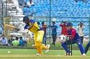 Baba Aparajith works on the leg side as Chetan Bist looks on, Rajasthan v Tamil Nadu, Vijay Hazare Trophy 2019-20, Jaipur, September 24, 2019