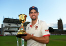 Sir Alastair Cook of Essex poses with the County Championship Trophy, County Championship, Division One, Taunton, September 26, 2019