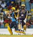 JP Duminy dispatches one over deep midwicket, Barbados Tridents v Trinbago Knight Riders, CPL 2019, Bridgetown, September 26, 2019