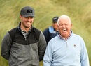 AB de Villiers and Gerry McIlroy find a reason to smile, Kingsbarns Golf Links, September 27, 2019
