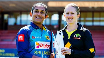 Chamari Atapattu and Rachael Haynes ahead of the T20I series