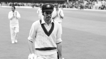 Greg Chappell walks from the field at Lord's during the 1972 Ashes Test where he made 131
