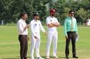 The captains Sahibzada Farhan and Shan Masood at the toss, Khyber Pakhtunkhwa v Southern Punjab, Quaid-e-Azam Trophy, 1st day, September 28, 2019