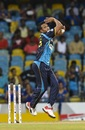 Shakib Al Hasan was in the action straightaway for Barbados Tridents, Barbados Tridents v St Kitts Nevis Patriots, CPL 2019, Bridgetown, Barbados, September 28 2019