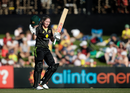 Beth Mooney celebrates her century, Australia v Sri Lanka, 1st Women's T20I, North Sydney Oval, September 29, 2019
