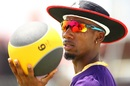 Khary Pierre at the Trinbago Knight Riders nets