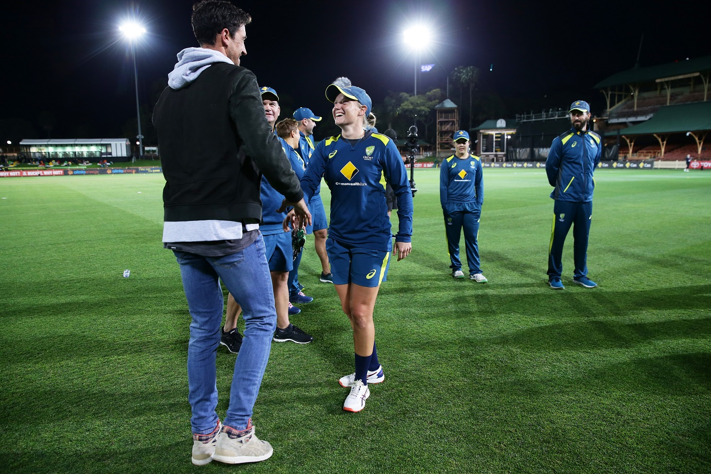 The Stealys: Mitchell Starc is a familiar face at Healy's matches whenever their schedules line up
