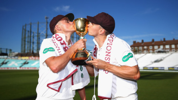 With Northamptonshire's promotion to Division One, Ben Curran could potentially play against his brothers, Surrey's Sam and Tom Curran (in photo), next season