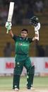 Abid Ali celebrates his fifty, Pakistan v Sri Lanka, 3rd ODI, Karachi, October 2, 2019