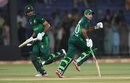 Fakhar Zaman and Abid Ali take a run during their partnership, Pakistan v Sri Lanka, 3rd ODI, Karachi, October 2, 2019