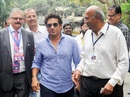 Sachin Tendulkar arrives at the Wankhede to cast his vote for the MCA polls, Mumbai, October 4, 2019