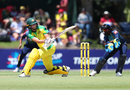 Meg Lanning sweeps as she top scores with 73 off 66 balls, Australia v Sri Lanka, 1st Women's ODI, Allan Border Field, October 5, 2019
