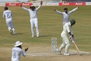 Kagiso Rabada's dismissal means India have won their first three World Test Championship matches, India v South Africa, 1st Test, Visakhapatnam, 5th day, October 6, 2019
