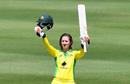 Rachael Haynes celebrates her maiden ODI century, Australia v Sri Lanka, 2nd Women's ODI, Brisbane, 7 October 2019