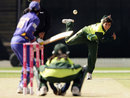 Sajjida Shah bowls, Pakistan v Sri Lanka, 5th match, ICC Women's World Cup, Manuka Oval, Canberra, March 9, 2009