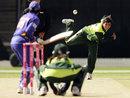 Sajjida Shah bowls, Pakistan v Sri Lanka, 5th match, ICC Women's World Cup, Manuka Oval, Canberra, March 9, 2009
