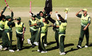 Asmavia Iqbal lifts her captain Urooj Mumtaz in celebration after the victory over Sri Lanka, Pakistan v Sri Lanka, 5th match, ICC Women's World Cup, Manuka Oval, Canberra, March 9, 2009