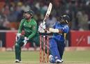 Bhanuka Rajapaksa plays a slog sweep, Pakistan v Sri Lanka, 2nd T20I, Lahore, October 7, 2019